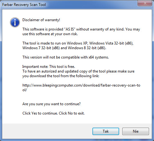 how to run farbar recovery scan tool