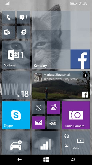 Tło - Windows 10 dla smartfonó