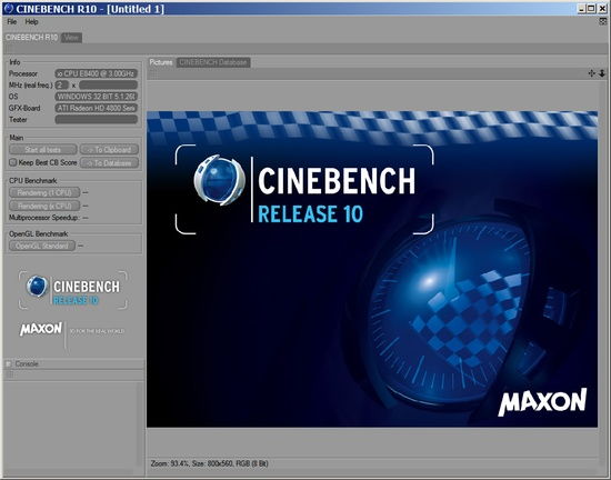 MAXON CINEBENCH R10
